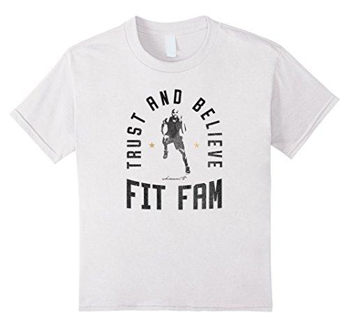 unisex-child Shaun T Fit Fam Tee Shirt 10 White