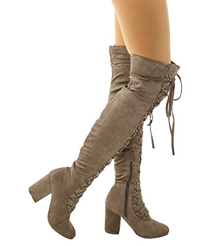 Taupe Suede Lace - 8