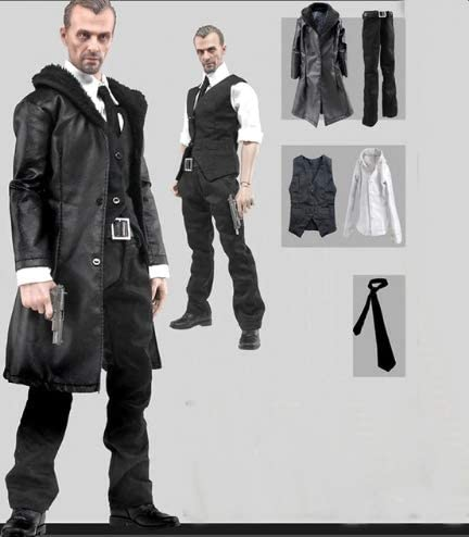 1/6 Male Leather Coat Suit Windbreaker Clothing Sets for 12 Inch Action Figures Models Doll