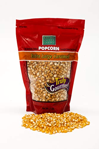 Wabash Valley Farms Extra Large Mushroom Gourmet Popcorn - 2 Pounds of Old Fashioned Mushroom Shaped Popping Corn Kernels, Tastes Like Movie Theater Popcorn- Great Gift
