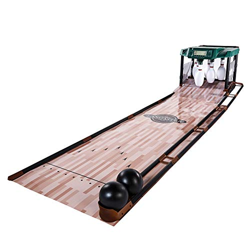 Lancaster Gaming 85 Inch Indoor Bowling Alley with Electronic Scorer Arcade Game (Mini Bowling Alley)