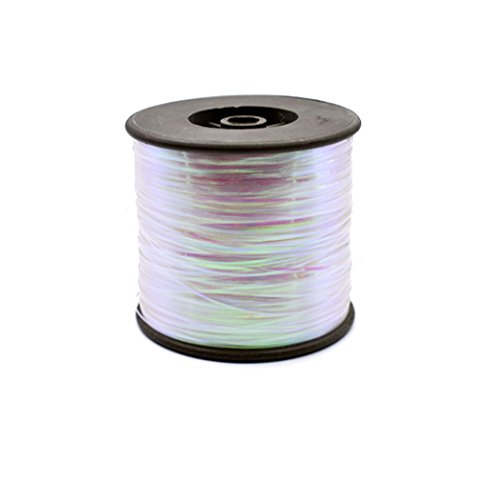 (Phecda Sport 1 Spool Width 1MM Pearl Color Flash Mylar Tinsel Fly Tying Materials for Fishing Lure Dry Flies (Pearl) )