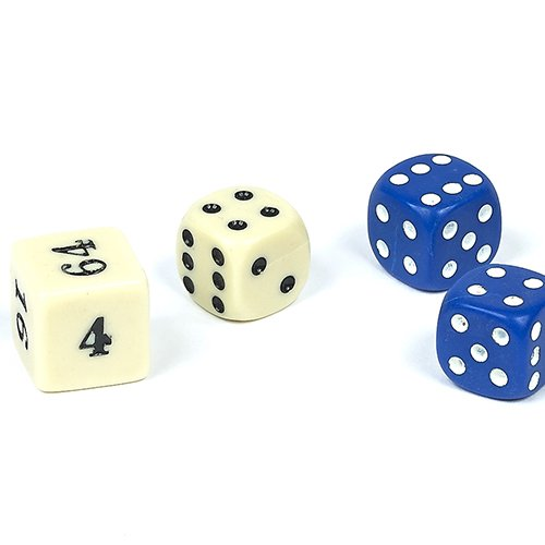 Backgammon Dice (Backgammon Dice-Blue 1/2