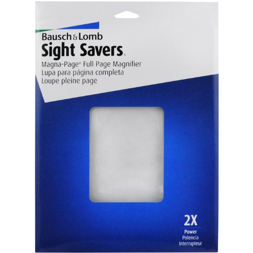 Price comparison product image Bausch & Lomb 2X Magna-Page Full-Page Magnifier with Molded Fresnel Lens, 8.25 x 10.75 Inches (819007)