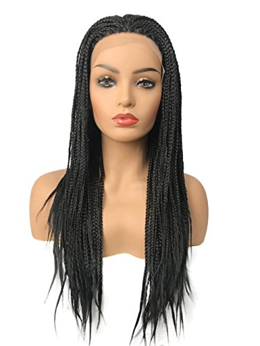 French Wigs Full Lace (Braid Wig Braided Lace Front Wigs for Black Women Heat Resisitant Fiber Full Wigs)