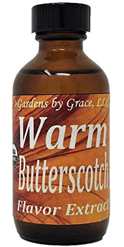 Organic Flavor Extract Butterscotch | Use in Gourmet Snacks, Candy, Beverages, Baking, Ice Cream, Frosting, Syrup and More | GMO-Free, Vegan, Gluten-Free, 2 oz
