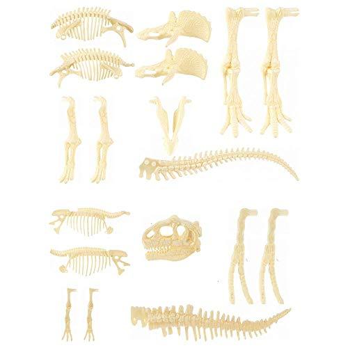 Gaiatop Dinosaur Skeleton, 2Pcs 4D Dinosaur Fossil Skeleton Toys DIY for Kids Fossil Skeleton Figure