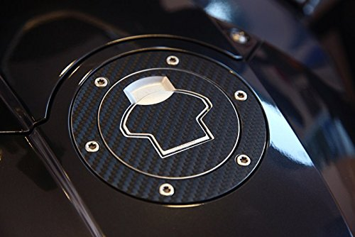 Habillage Bouchon de Reservoir Carbone BMW (6 Trous) Moto Discovery