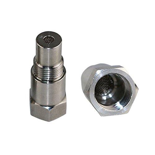 Jzz Cozma CEL Check Engine Light 180 Degree O2 Sensor Socket Real Catalytic Converter Inside - Stainless Steel Spacer Catalytic Converter O2 Sensor