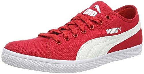 Puma Elsu CV - zapatilla deportiva de material sintético unisex rojo - Rot (09 high risk red-white-white)