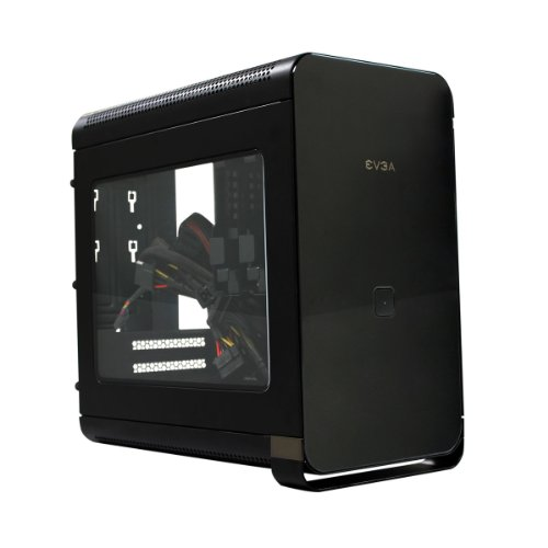 EVGA Hadron Air Mini-ITX Steel Black Chassis with 500W 80Plus Gold Power Supply, Black 110-MA-1001-K1