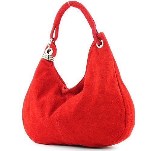 modamoda de - Les consommateurs italiens Suede United T02, Präzise Farbe (nur Farbe):Rot