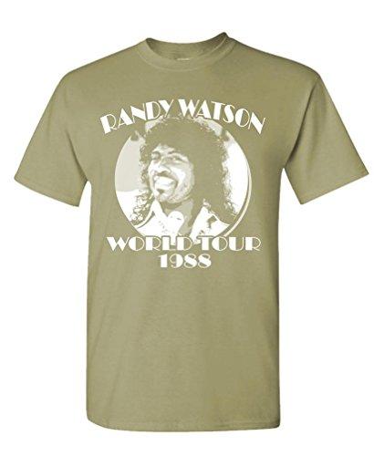 RANDY WATSON WORLD TOUR - retro movie funny - Mens Cotton T-Shirt, S, Dust