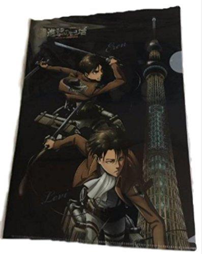 進撃の巨人 東京スカイツリー クリアファイル リヴァイ エレン アルミン ミカサの商品画像