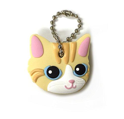 Key Cover/Key Caps/Key Holder/Keycaps - Cute Animal Pet Faces (Yellow Cat)