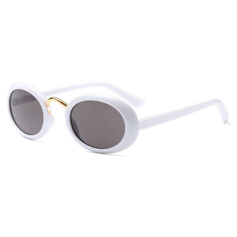 Oval Retro Vintage Sonnenbrille Ovel Hibote Clout Brille C3: Amazon ...