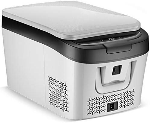車載用冷蔵庫 車のミニ冷蔵庫25L、フリーズ-20℃寝室ミニ冷蔵庫フリーザー12V DC / 220V AC、ガラスドア付き、デジタルディスプレイ、省エネ、果物冷蔵 (Color : 白, Size : 37*59*33cm)