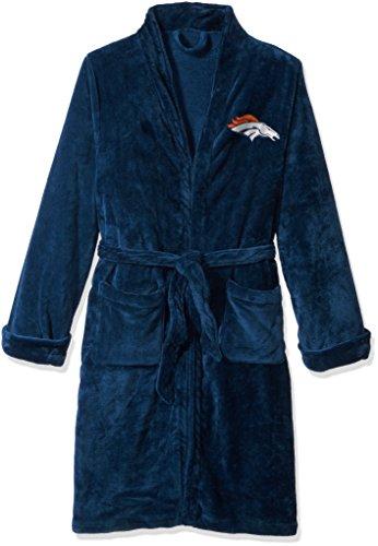 Officially Licensed NFL Denver Broncos Men's Silk Touch Lounge Robe, - Denver For Men