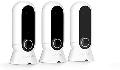 Canary Flex 3 Camera Home Monitoring Pack Indoor Outdoor WiFi HD Security Night Vision, Weatherproof, Wireless or Plug in, Flexible, App Phone Motion Alerts Alexa, iOS, Google, Android , White