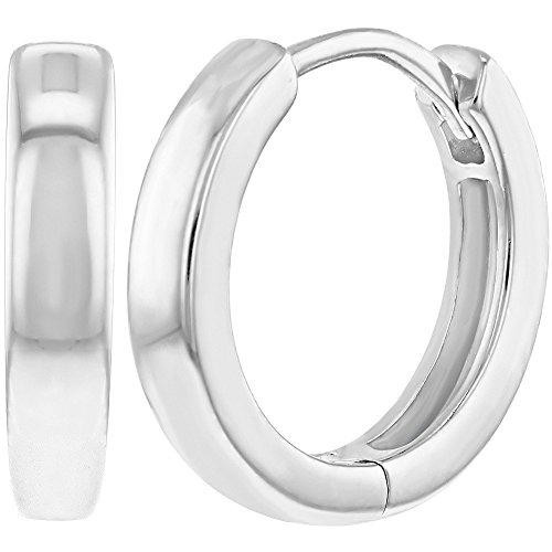 925 Sterling Silver Classic Small Hoop Huggie Earrings for Teens Women 0.47