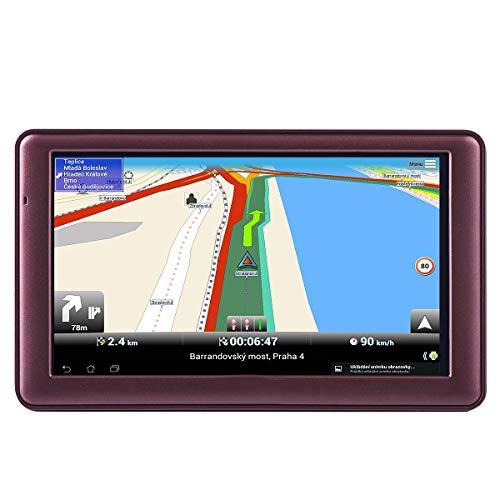 (7-inch GPS for Car, Free Lifetime Map Update Spoken Turn-to-Turn Navigation System for Cars, Portable Sat-Nav, Vehicle GPS Navigator)