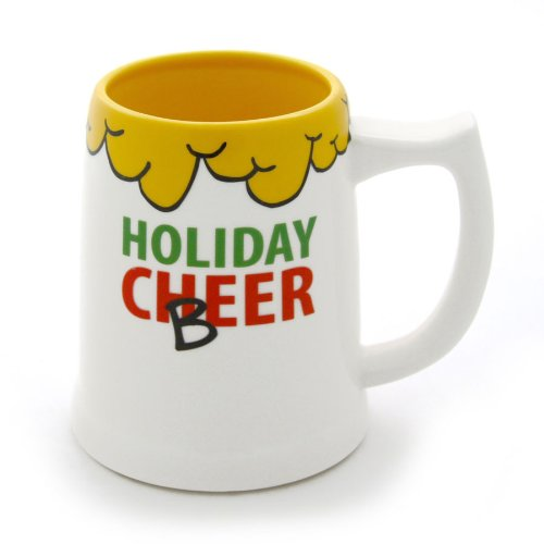 Enesco Our Name is Mud Holiday Cheer Stein by Lorrie Veasey, 4-Inch ()