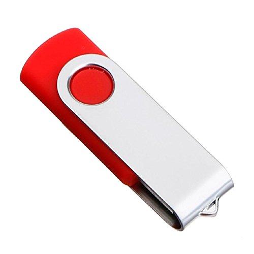Lookatool USB 2.0 Flash Drive Memory Stick Storage Pen Disk Digital U Disk (8GB, Red) - Flash Disk 8 Gb