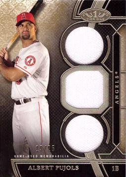 2015 Topps Tier One Triple Relics #TOR-AP Albert Pujols Game Worn Jersey Baseball Card – Only 25 made! - Near Mint to Mint