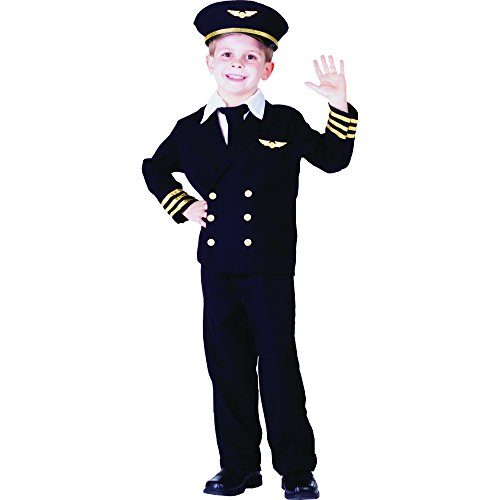 Dress Up America Toddler Pilot Boy Costume, Black, 2T -