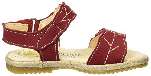 El Naturalista Kids Mädchen Samoa Open Toe Sandalen Rot (Tibert)