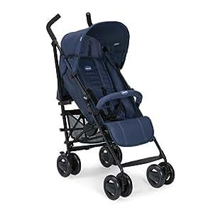 Chicco London Silla de paseo ligera, solo 7.2 kg, compacta y manejable, color azul (Blue Passion)