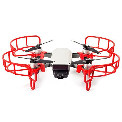 Kupton DJI Spark Propeller Guards, Protection Propeller Guards &Landing Gear Set Accessories for DJI Spark Drone(Red)