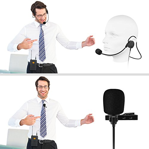 Wireless Microphone System,Fifine Wireless Microphone set with Headset & Lavalier Lapel Mics, Beltpack Transmitter&Receiver,Ideal for Teaching, Preaching and Public Speaking Applications.(K037B) - Image 7