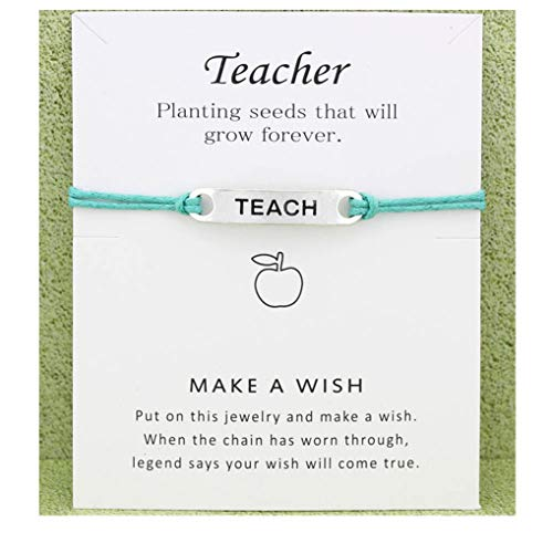 KISSFRIDAY Fashion Bangle Jewelry Lucky Friendship Bracelet Teacher's Day Gift(color 4) (Under Christmas Gifts $5 Teacher)