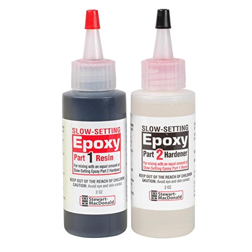 (StewMac 2-Part Epoxy, Slow-Setting, Black )