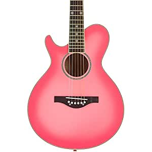 Daisy Rock WildWood Short Scale Acoustic Left-Handed Guitar, Pink Burst