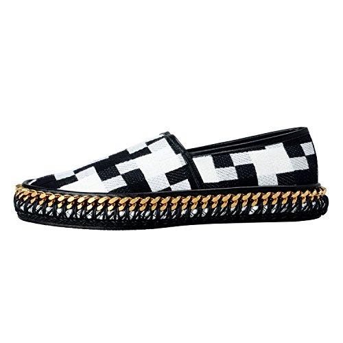 Versace Mens Canvas & Leather Mocassini Shoes Us 6 It 39;