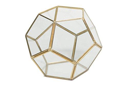 Gold Geometric Terrarium ~ Wedding Terrarium ~ Succulent Terrarium ~ Geometric Wedding Centerpiece ~ Geometric Centerpiece ~ Gold Wedding (8) by Country Chapel (Image #3)