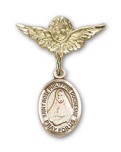 Icecarats Or Bijoux De Créateurs Rempli R. Rose Broches Badge Charme D'Ange Philippine 1 X 3/4