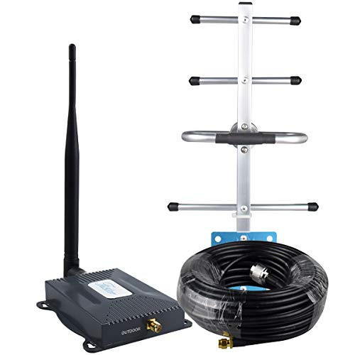 AT&T Signal Booster 4G LTE Cell Phone Signal Booster AT&T Cricket T-Mobile 700mhz Band 12/17 Cell Signal Booster ATT Cell Phone Booster Home Mobile Signal Amplifier Antenna Kit Boosts 4G Data/Call
