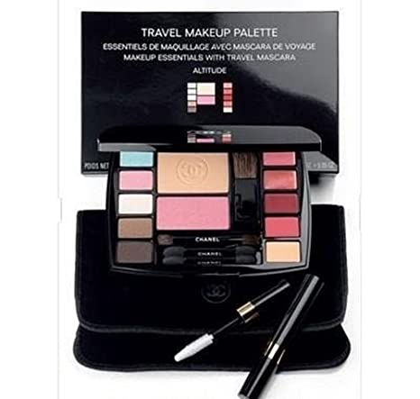 Amazon.com : CHANEL Complete Travel Makeup Palette with Mascara ALTITUDE Essentials : Beauty