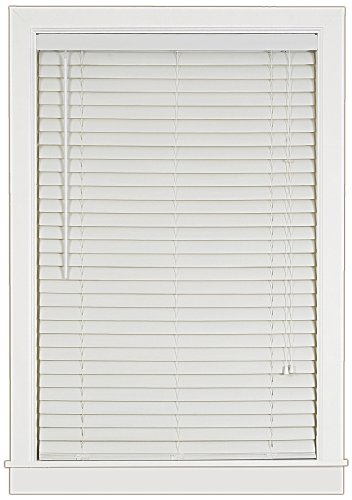 Achim Home Furnishings Luna 2-Inch Vinyl Blind, 32-Inch by 64-Inch, White - Alternative Wood Blinds