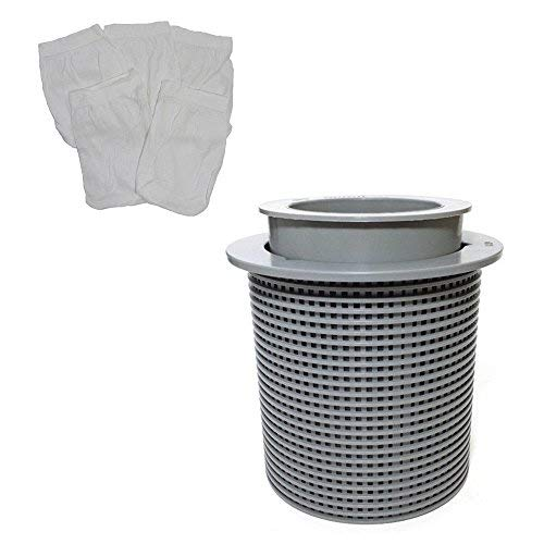 KHY Replacement Pool Skimmer Basket & Floating Weir w/Filter Saver Sock Sleeve FOR American Admiral B-3738-SOCK 850001