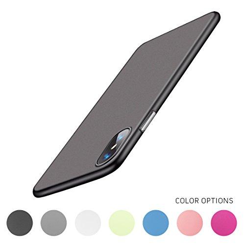 Minimalist Apple iPhone X Case, Ultra-Thin Semi-Transparent Matte Protective Cover Bumper - Gray Transparent