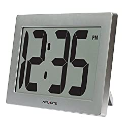 AcuRite 75102 9.5 Large Digital Clock with Intelli-Time Technology
