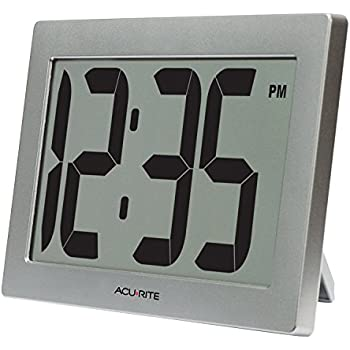 Amazon Com Kwanwa Digital Wall Clock Battery Operated