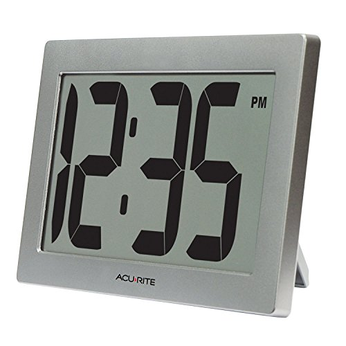 AcuRite 75102 9.5 Large Digital Clock with 3.75 Digits and Intelli-Time Technology