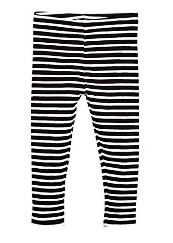 Kids Bron Toddler/Little Girls Basic Cotton Ankle Leggings Pants (1pk-Stripe, 2T/Toddler Girl) ()