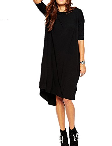 Haola Womens Loose T Shirt Dress Home Short Shirts Mini Dresses Tops