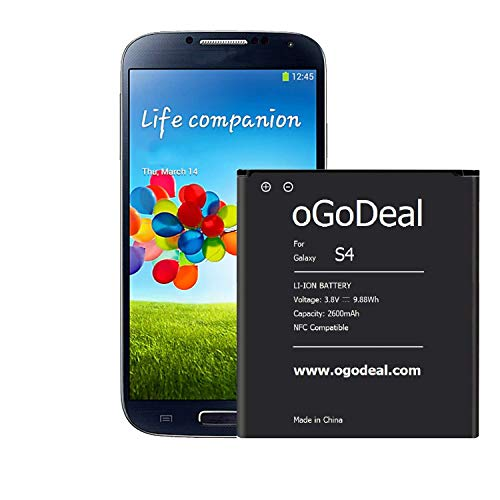 e2be8e015d3 oGoDeal Battery Replacement Compatible for Samsung Galaxy S4 2600mAh 3.85V  Li-Ion i9500 Active